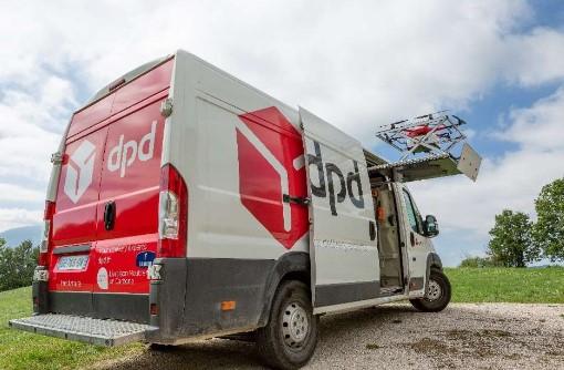 plateforme de decollage pour les livraison par drone dpd